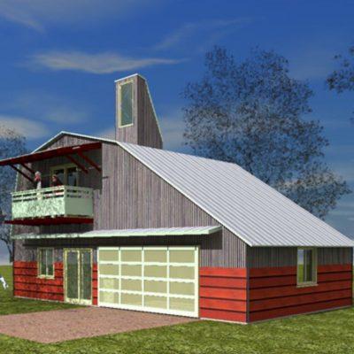 Фермерский дом: спереди