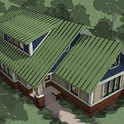Двухэтажный СИП дом: вид сверху