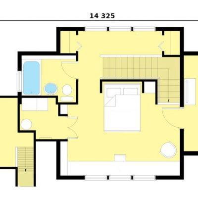 Двухэтажный СИП дом: 2 этаж, планировка