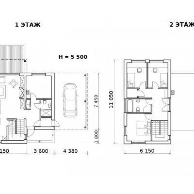 Современный СИП дом: планировка