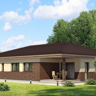 Дом с большим гаражом: двор