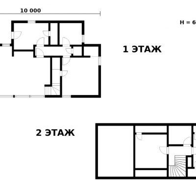 СИП дом с панорамными окнами: планировка
