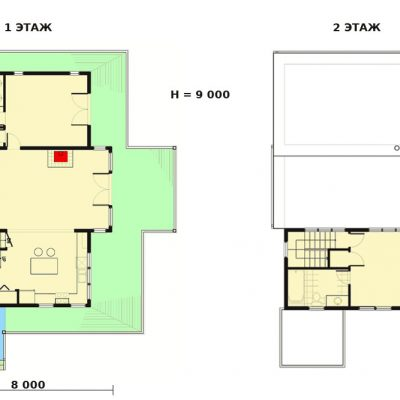 СИП дом на холме: планировка