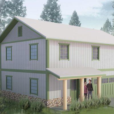 Загородный СИП дом