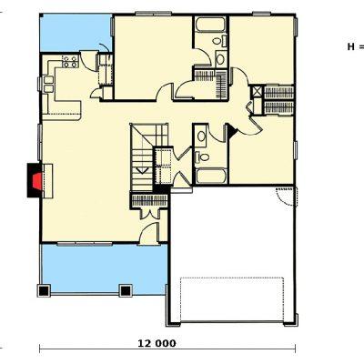 Небольшой СИП дом: планировка