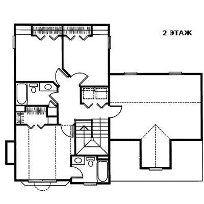 Дом с верандой: 2 этаж