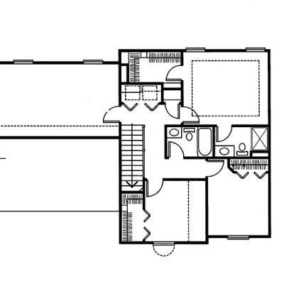 СИП дом с верандой: 2 этаж