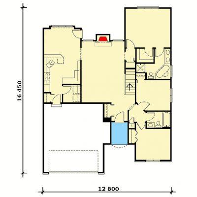 Одноэтажный СИП дом: планировка