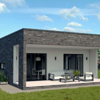 SIP дом с гаражом: терраса