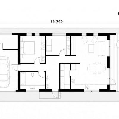 SIP дом с гаражом: планировка