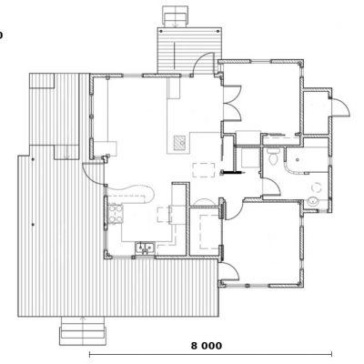Коттедж из СИП панелей: планировка