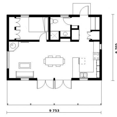 Загородный дом из СИП панелей: планировка