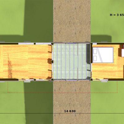Дом на сваях из SIP панелей