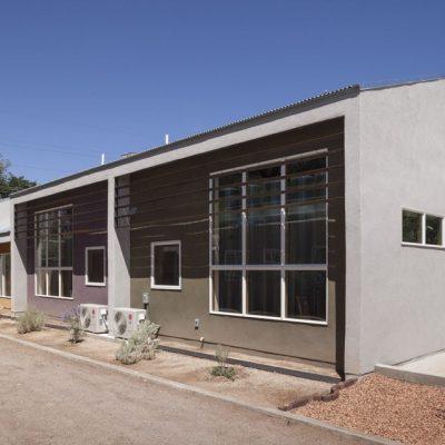 Блочный жилищный комплекс из СИП панелей: задний фасад