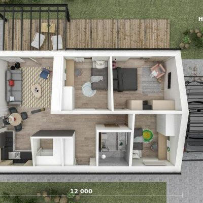 Дом с перголой: планировка
