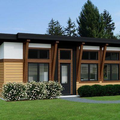 Компактный SIP дом: Фасад дома