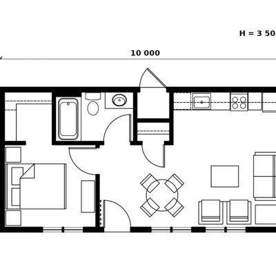 Компактный SIP дом: Планировка