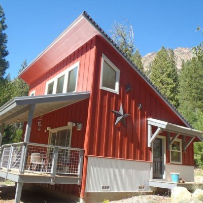 Двухэтажный СИП дом: боковой вход
