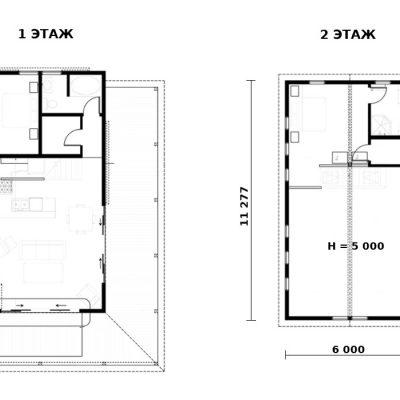 Двухэтажный дом: планировка