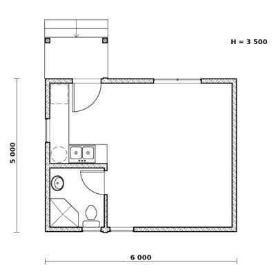 СИП дом для дачи: планировка
