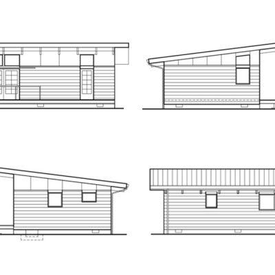 Большой дачный дом: схематическое изображение