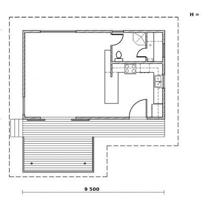 Большой дачный дом: планировка