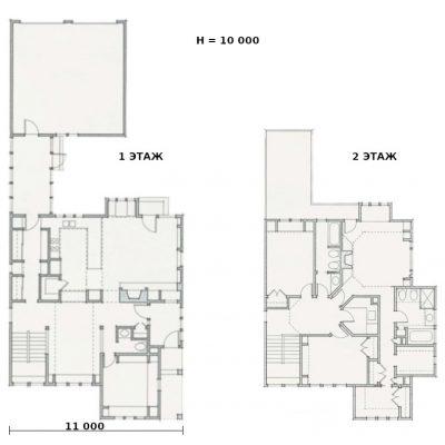 Просторный СИП дом: планировка