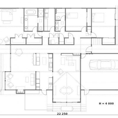 Вместительный СИП дом: планировка