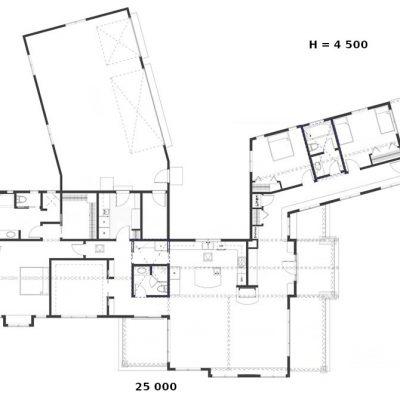 Большой загородный СИП дом: планировка