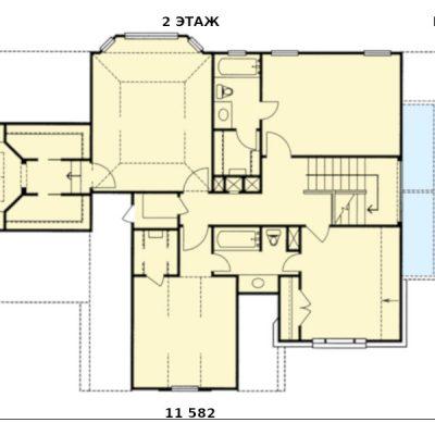 Дом для большой семьи: 2 этаж