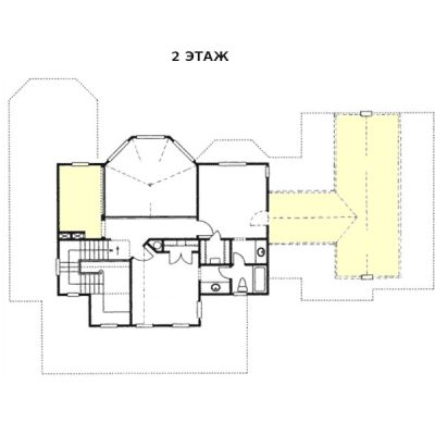 Загородный дом из СИП панелей: 2 этаж