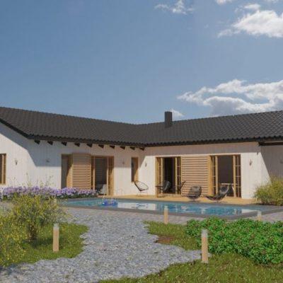 L-образный SIP дом