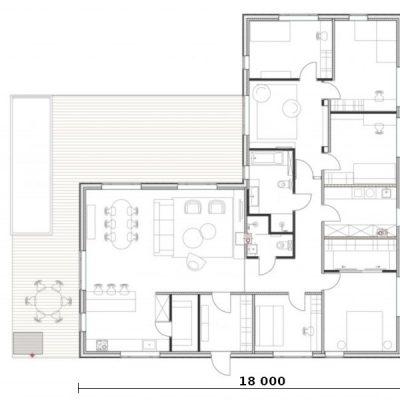 L-образный SIP дом: планировка