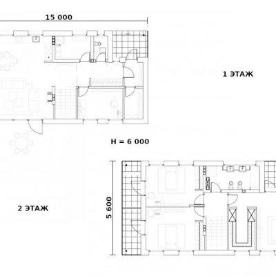 Двухэтажный СИП дом: планировка