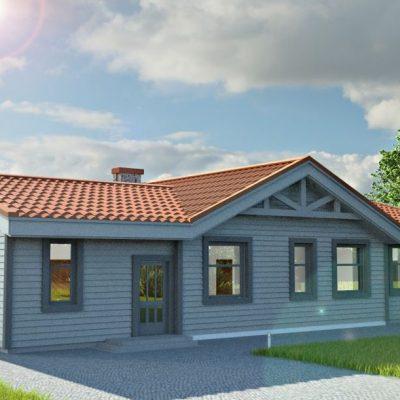Скандинавский СИП дом: передний фасад