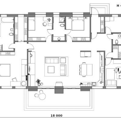 Скандинавский СИП дом: планировка