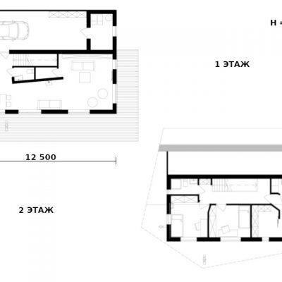 СИП дом с мансардой: планировка