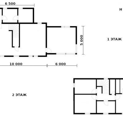 СИП дом с отдельной лаунж зоной: планировка