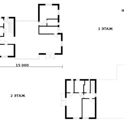 Двухэтажный SIP дом: планировка