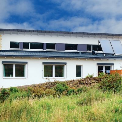 Энергоэффективное бунгало: задний фасад